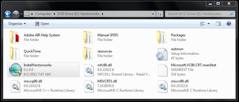 windows installvectorworks dvd contents.png