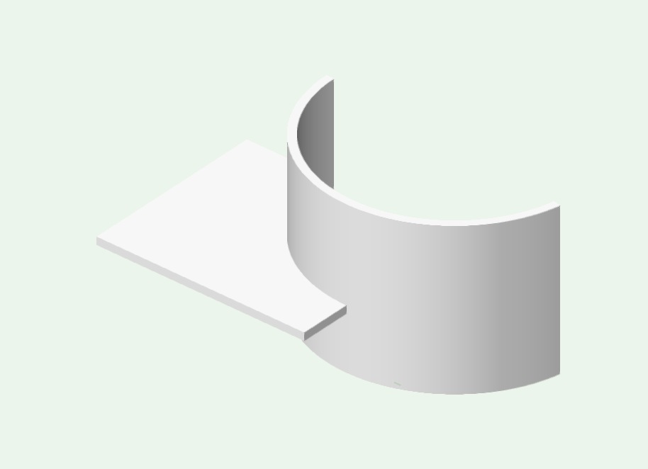 Error with section viewport curved wall and curved slab for Curved wall