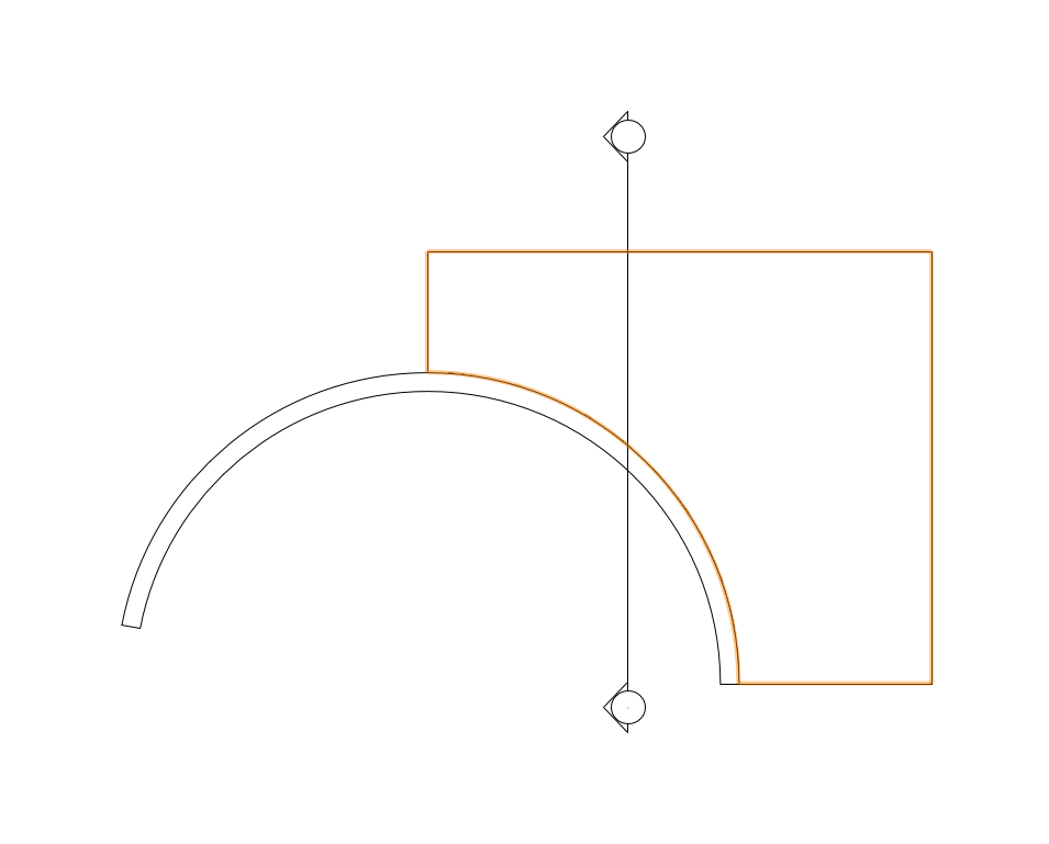 Top:Plan View of Curved Wall, Slab, and Section Marker.png