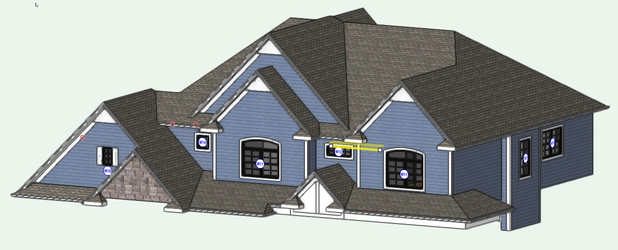 Intersecting Pitched Roofs Architecture Vectorworks