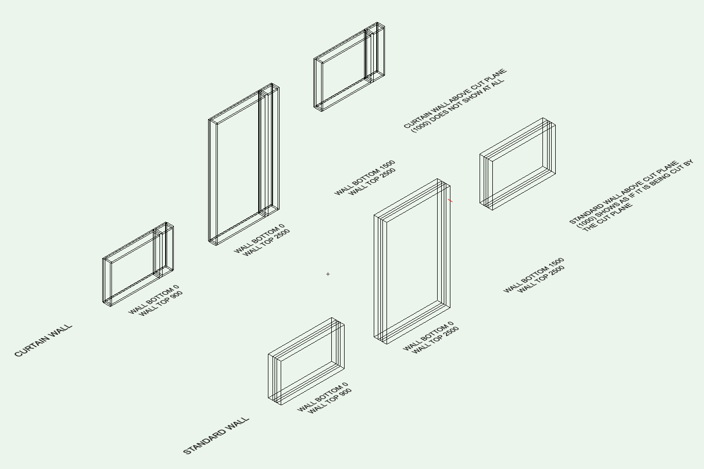 Isometric of Walls and Cut Plane .png