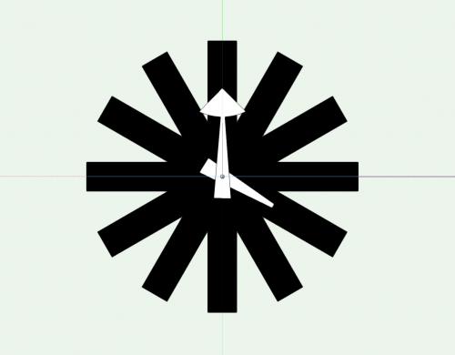 Asterisk Wall Clock Object