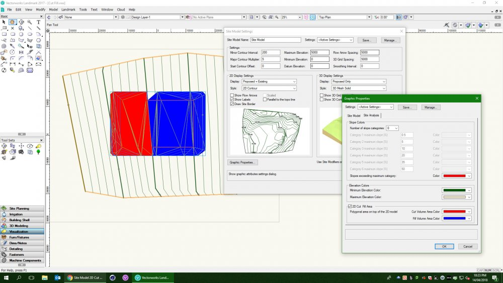 20180414_Vectorworks Landmark 2017_Site Model 2D Cut Fill Area.jpg