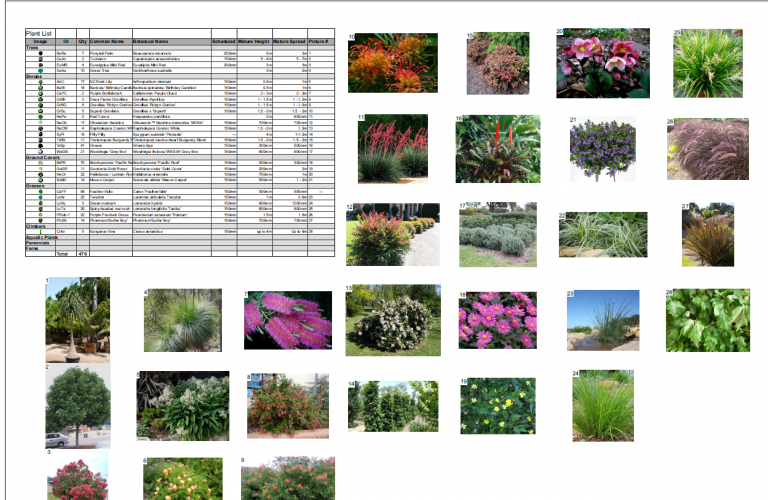 plant and landscape feature image library - Site Design ...