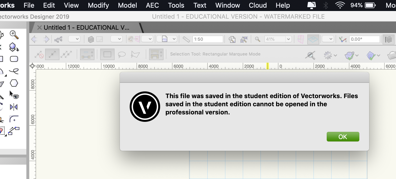 Why can't I open another student file in my student Vectorworks ...
