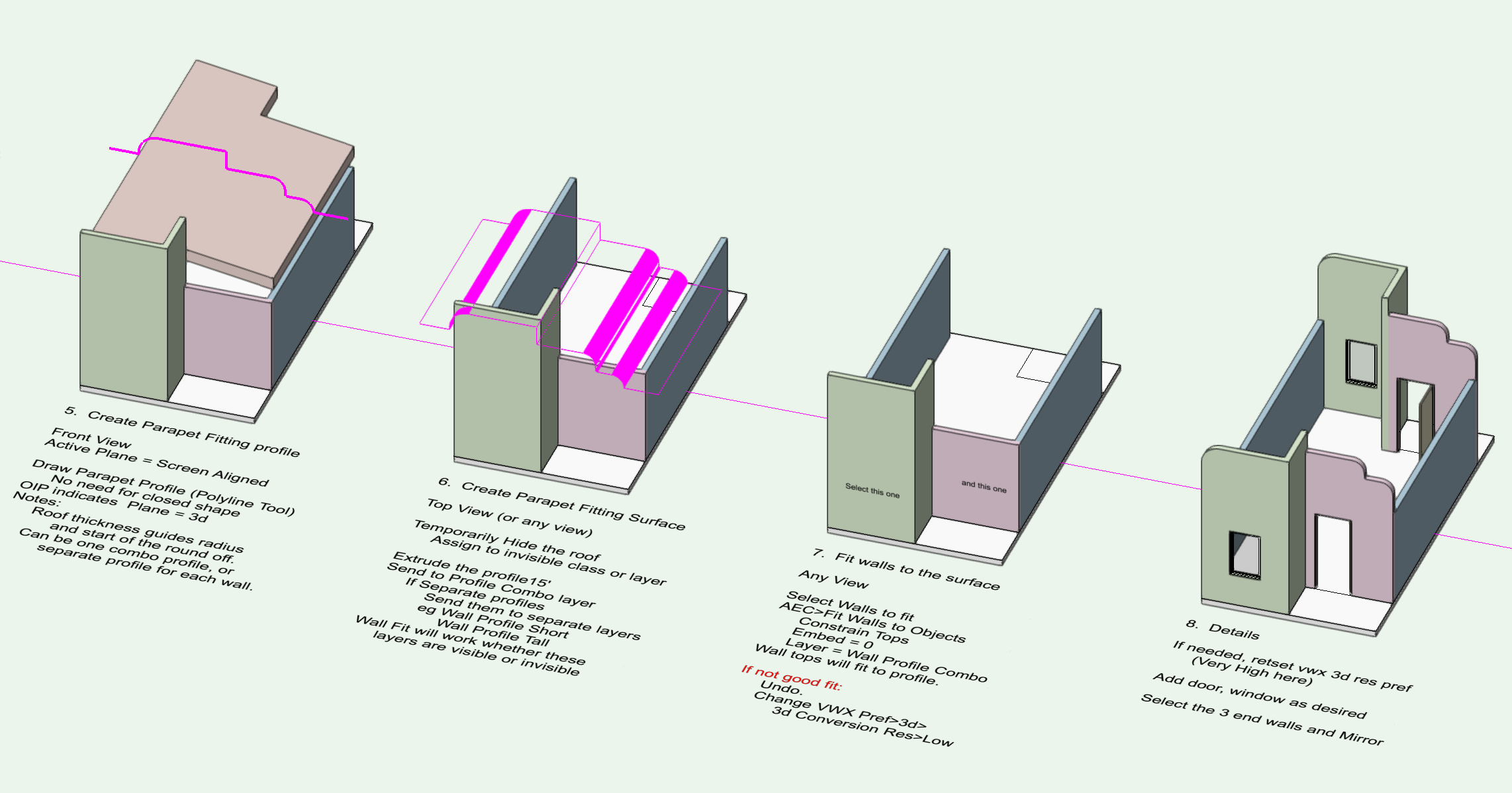 Roof help: parapets and shed - Architecture - Vectorworks