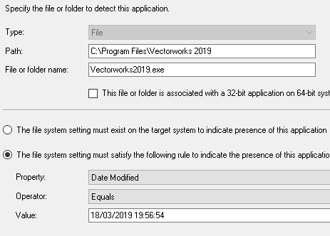 vectorworks 2019 silent install using sccm as application